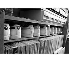 Sneakers & records Photographic Print