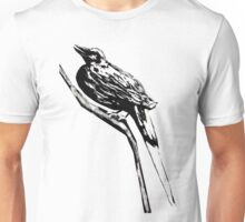 Long tailed blue bird 4 Unisex T-Shirt