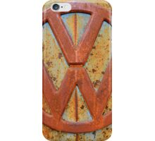 Vintage Rusty Volkswagen Bus Logo iPhone Case/Skin