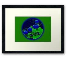 Berries green Framed Print