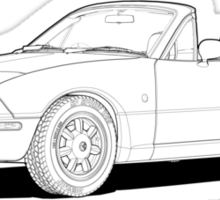 Eunos Roadster MK1 Line Illustration Sticker