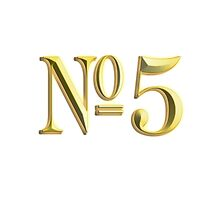 NUMBER 5, in Gold, FIFTH, FIVE, Competition, TEAM SPORTS, by TOM HILL - Designer