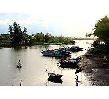 The Fisherman's Estuary - Hoi An, Vietnam. Photographic Print
