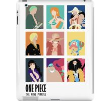 Onepice strawhat 9 crew iPad Case/Skin