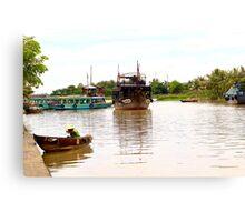 The Town River - Hoi An, Vietnam. Canvas Print