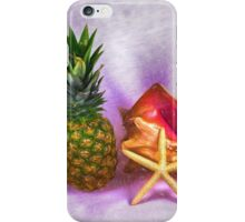 Pineapple With Seashells Still Life iPhone Case/Skin