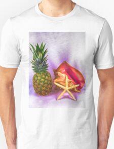 Pineapple With Seashells Still Life T-Shirt