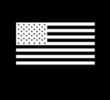 American Flag, America, Americana, NEGATIVE on black, Stars & Stripes, Pure & Simple, USA by TOM HILL - Designer
