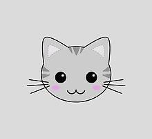 Cute Kawaii Grey Tabby Cat by TigerLynx