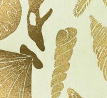 Gold Seashells Sticker