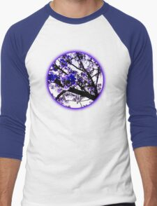 Blue blossoms Men's Baseball ¾ T-Shirt