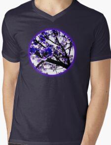 Blue blossoms Mens V-Neck T-Shirt