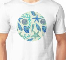 Blue Seashells Unisex T-Shirt