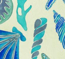 Blue Seashells Sticker