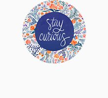 Stay Curious – Navy & Coral T-Shirt