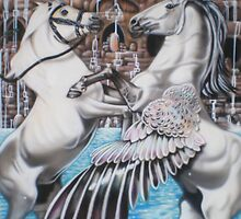 Unicorn Vs Pegasus by Dale Keogh