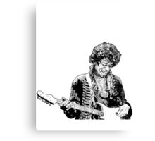 sketch of Hendrix Canvas Print