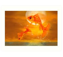 Leaping Fish Art Print