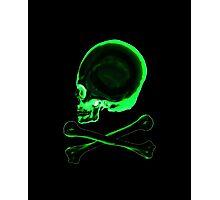 Pirate skull & crossbones in black Photographic Print