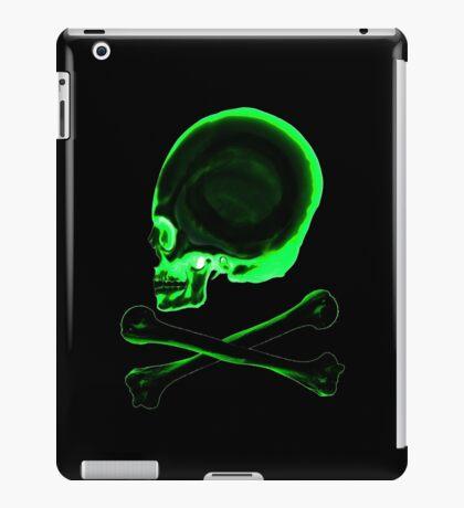 Pirate skull & crossbones in black iPad Case/Skin