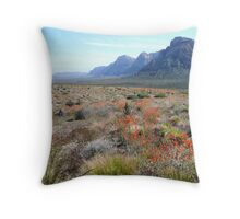Red Rock in full bloom Throw Pillow