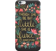Little & Fierce on Charcoal iPhone Case/Skin