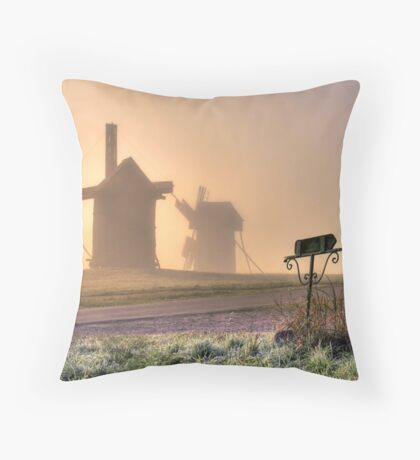Through the fog centuries Throw Pillow