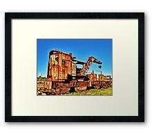 Old Crane - Alderney Framed Print