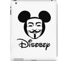 Disobey - Anonymous - Disney - Subversive Symbolism iPad Case/Skin