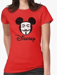 Disobey - Anonymous - Disney - Subversive Symbolism Womens Fitted T-Shirt