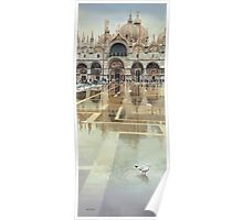 """""""Floating Palace"""" Watercolor Poster"""