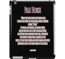 Pale Horse, When the Lamb broke the Fourth Seal, Four Horsemen of the Apocalypse iPad Case/Skin