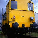 The yellow locomotive by steppeland