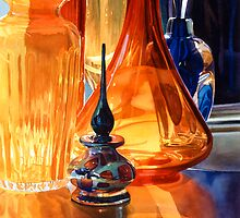 """Hide and Seek"" Art Glass Watercolor, Paul Jackson by Paul Jackson"