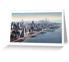 """""""Manhattan Memories"""" New York Watercolor Greeting Card"""