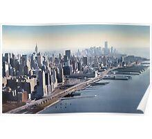 """""""Manhattan Memories"""" New York Watercolor Poster"""