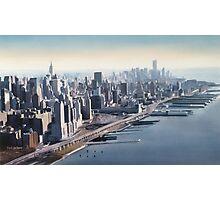 """Manhattan Memories"" New York Watercolor Photographic Print"