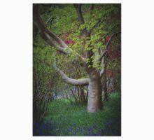 Bluebells Beneath the Mysterious Tree Kids Tee