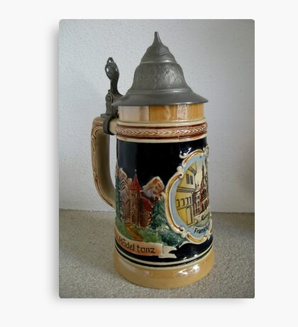 Old beer mug Canvas Print