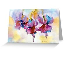 Fuchsia Watercolor II Greeting Card