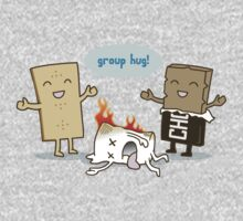 Funny S'mores - GROUP HUG! One Piece - Long Sleeve