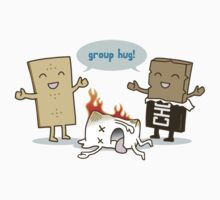 Funny S'mores - GROUP HUG! One Piece - Short Sleeve