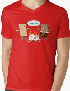 Funny S'mores - GROUP HUG! Mens V-Neck T-Shirt