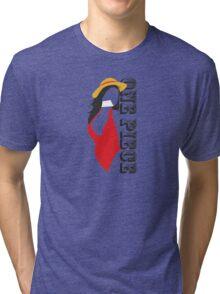 one piece swimsuit !!!! :P Tri-blend T-Shirt
