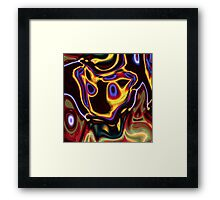 unique grunge cool abstract red hot rod flames Framed Print