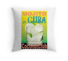 Mojito de Cuba Vintage Style Poster Throw Pillow