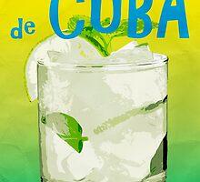 Mojito de Cuba Vintage Style Poster by Edward Fielding