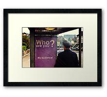 ?U Framed Print
