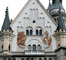 Neuschwanstein Castle in Bavaria Germany: Front View by LeahsPhotos