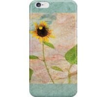 """You Don't Bring Me Flowers Anymore"" Scarf~ Textured Aqua Borders iPhone Case/Skin"